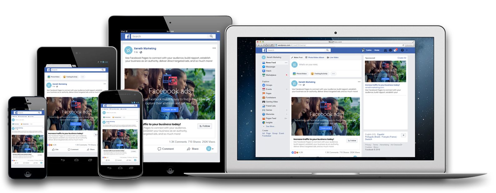 Reach your target audience with Facebook Advertisements on any device