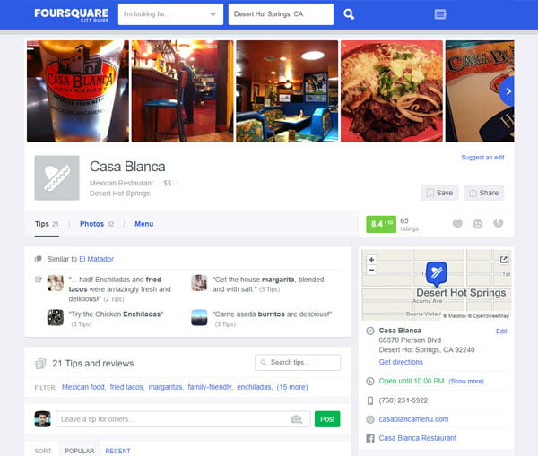 Get you business listed in Foursquare Local Search