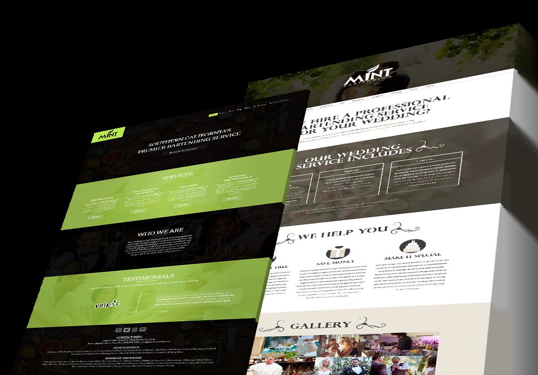Mint Bartending Palm Springs Website design